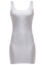 Zalando Essentials Jersey Dress Light Grey Melange Mottled Light Grey