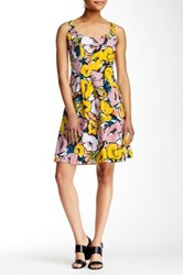 Nine West Novelty Topstitched And Pleated Dress Multi