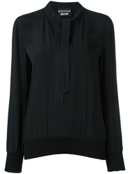 Boutique Moschino Tie Neck Blouse Black