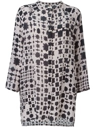 Humanoid Blotchy Print Shirt Grey