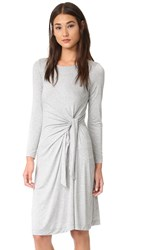 Three Dots Whitney B Twist Dress Granite