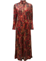 Jean Paul Gaultier Vintage Long Velvet Dress Multicolour