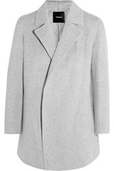 Theory Clairene Brushed Wool And Cashmere Blend Jacket Gray