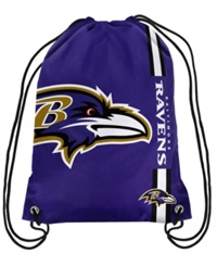 Forever Collectibles Baltimore Ravens Big Logo Drawstring Bag Purple