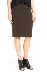 Eileen Fisher Women's Silk Blend Knit Straight Skirt