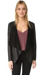 Bb Dakota Derby Drapey Leather Jacket Black