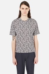 Stephan Schneider Crescent Flag Pixel Print Tee Grey Flags