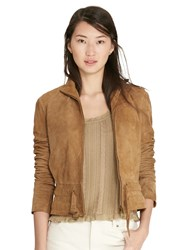 Lauren Ralph Lauren Kiania Leather Jacket Mountain Khaki