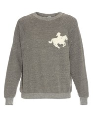Bliss And Mischief Cowgirl Chenille Sweatshirt Grey