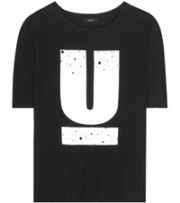 Undercover Printed Cotton T Shirt Black