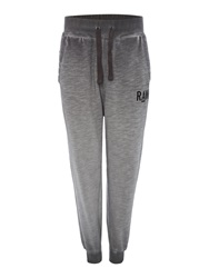 G Star Tapered Fit Casual Tracksuit Bottoms Dark Grey