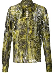 Plein Sud Jeans Animal Print Blouse Green