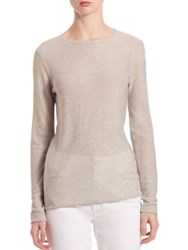 Saks Fifth Avenue Modal And Cashmere Slim Fit Tee Caviar Limestone