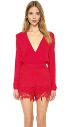The Jetset Diaries Island Time Romper Coral
