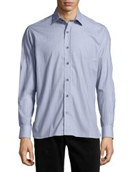 Ike Behar Patterned Sport Shirt Gray