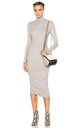 James Perse Turtleneck Skinny Dress In Gray