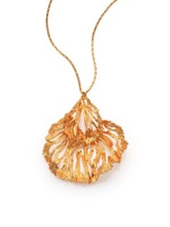 Alexander Mcqueen Fish Pendant Necklace Goldtone