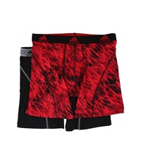 Adidas Sport Performance Climalite Graphic 2 Pack Boxer Brief Real Red Draven Black Grey Men's Underwear