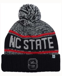 Top Of The World North Carolina State Wolfpack Acid Rain Pom Knit Hat Heather Gray Black Red
