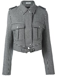 J.W.Anderson Houndstooth Pattern Jacket Black