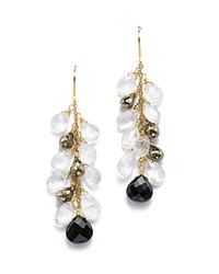 Bloomingdale's Onyx Pyrite And Moonstone Drop Earrings In 14K Yellow Gold Multi Gold