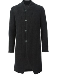 Label Under Construction High Neck Buttoned Coat Grey
