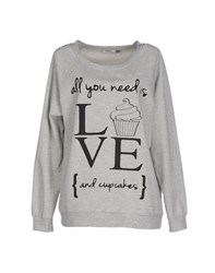 Only Topwear Sweatshirts Women Grey