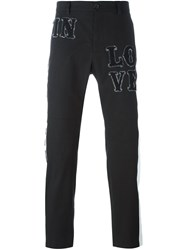 Dolce And Gabbana Patch Detail Trousers Black