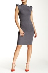 Wow Couture Keyhole Cutout Bodycon Dress Gray