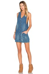 Blank Nyc Button Up Denim Dress Boy Blue
