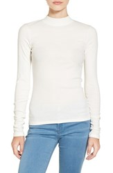 Women's Bp. Rib Knit Mock Neck Tee Ivory