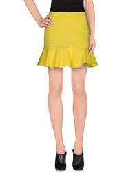 Jo No Fui Skirts Mini Skirts Women Yellow