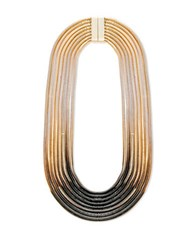 Steve Madden Black And White Ombre Snake Chain Necklace Gold