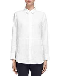 Whistles Alice Linen Shirt White