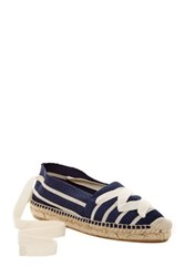 Bettye Muller Session Striped Espadrille Flat Blue