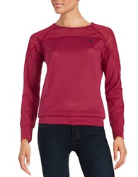 Y.A.S Mesh Yoke Active Top Beet Red