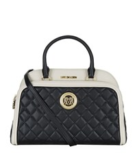 Love Moschino Contrast Trim Flap Pocket Bowling Bag Female Multi