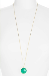 Lana 'Spellbound Glow' Pendant Necklace Yellow Gold Green Onyx