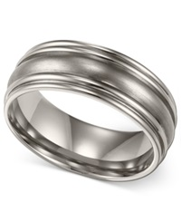 Macy's Men's Titanium Ring Comfort Fit Wedding Band 7Mm