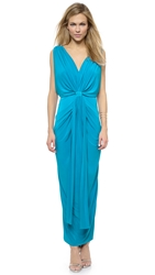 Tbags Los Angeles Draped Maxi Dress Pool Blue