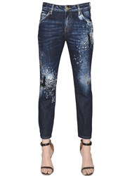 Amen Embellished Boy Fit Cotton Denim Jeans