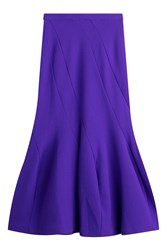 Roland Mouret Bias Cut Wool Skirt Purple