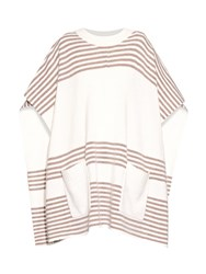 Banjo And Matilda Striped Wool And Cashmere Blend Poncho