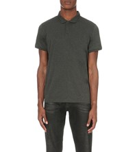 Calvin Klein Janton Mercerised Cotton Polo Shirt Grey