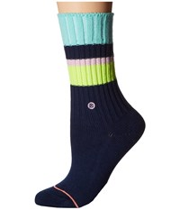 Stance Basically Basic Navy Women's Crew Cut Socks Shoes