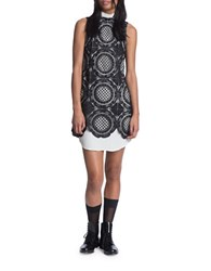 Tracy Reese Sleeveless Lace Overlay Dress Black