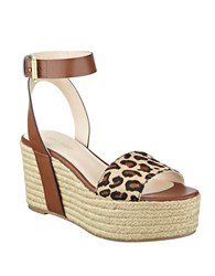 Nine West . Cognac Leopard