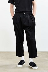Urban Outfitters Uo Relaxed Elastic Waist Cropped Trouser Pant Black