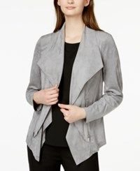 Alfani Petite Faux Suede Flyaway Jacket Only At Macy's Modern Metal