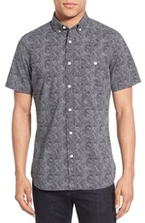 Nordstrom Men's Men's Shop Extra Trim Fit Print Short Sleeve Shirt